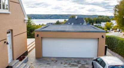Garage med udsigt