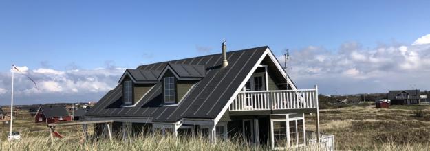Sommerhuse med listedækning
